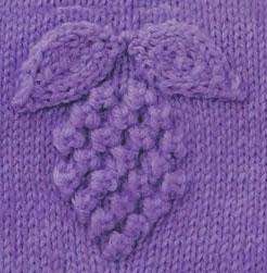 Knitting Stitch Grapes Motif