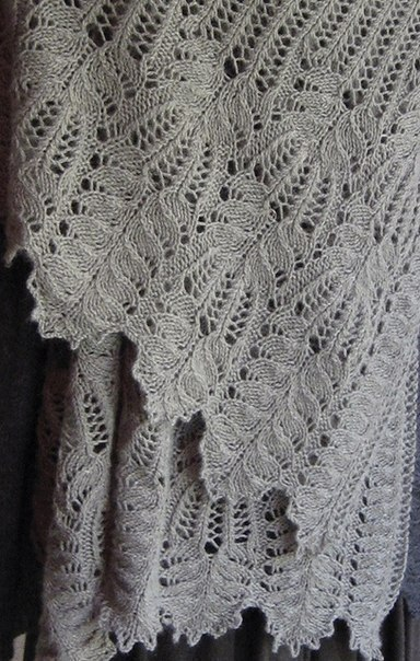 Knit Lace Stitch Scarf : Beautiful Lace Knitting Stitch Pattern Chart - Knitting Kingdom