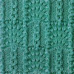 Fans and Slip Stitch Combo Knitting Stitch