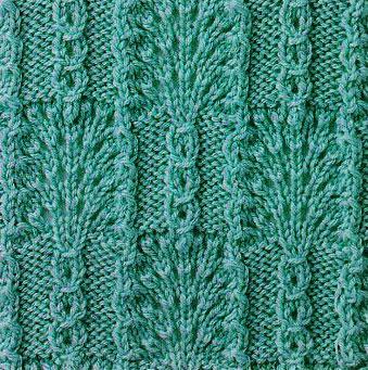 Fans and Slip Stitch Combo Knitting Stitch