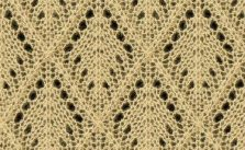 Lace Argyle Diamond Lace Knitting Stitch Free
