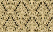 Lace Argyle Diamond Lace Knitting Stitch Free
