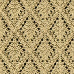 Diamond Lace Knitting Stitches : Knitting Kingdom - Just Free Knitting Stitches