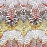 Multicolored Teardrop Free Knitting Stitch