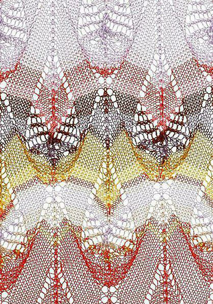 Multicolored Teardrop Free Knitting Stitch Knitting Kingdom