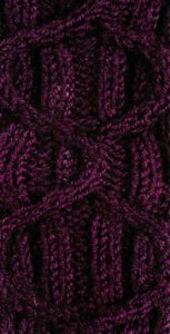 Cable in a Rib Free Knitting Stitch