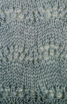 Extended Feather and Fan Stitch Knitting