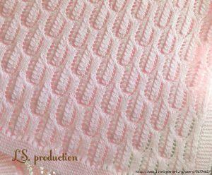 Free knitting stitch arches lace