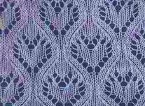 Lace Heart Knit Stitch