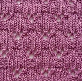 Lace Ovals Knitting Stitch
