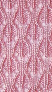 Lace Openwork Knit Stitch with Chart
