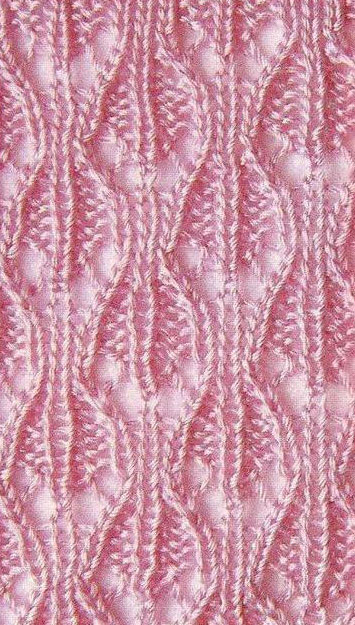 lace openwork knit stitch with chart knitting kingdom
