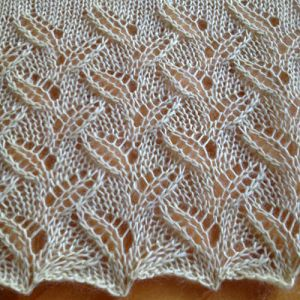 Little Leaves Free Lace Knitting Stitch Knitting Kingdom