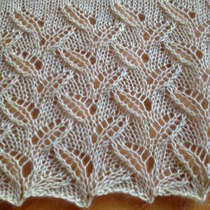 Little Leaves Free Lace Knitting Stitch