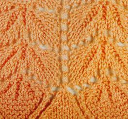 Upside-down Fan Columns Knitting Stitch