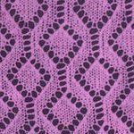 Lace Diamonds within Diamonds Knit Stitch.