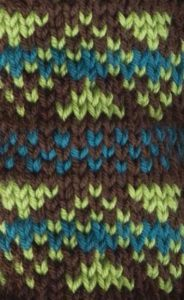 Colorwork Triangle Chevron Knit Stitch