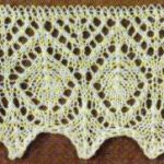 Diamond Lace Edge Knitting Stitch