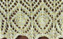 Diamond Lace Edge Knitting Stitch