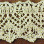 Fir Tree Lace Edge Knitting Stitch