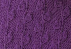 Leafy Path Knitting Stitch