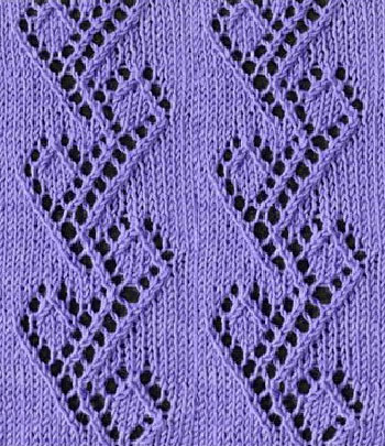Vine with Diamonds Lace Stitch