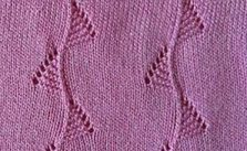 Bunting pattern knitting stitch