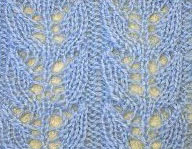 Lace Cups Knitting Stitch