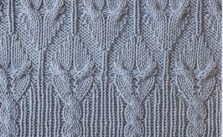 Cable with Edge Knitting Stitch