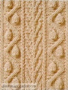 Cable with Pods Knit Stitch
