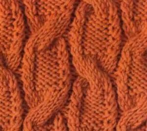 Cables and Twists Knitting Stitch