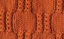 Checkered Twists Knit Stitch