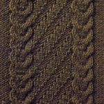 Claw and Diagonal Cabled Panel Knitting Stitch