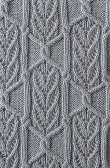 Continuous Cables and Lace Knit Stitch