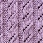 Diagonal Lace Columns Knit Stitch