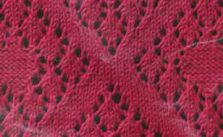 Eyelet Large Diamonds Lace Knitting Stitch