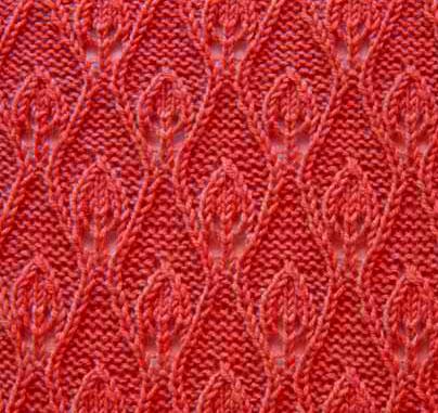 Flame Knitting Stitch Lace Pattern