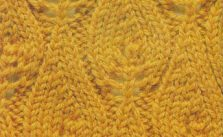 Flame Chart Knit Stitch