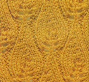 Flame Chart Knit Stitch
