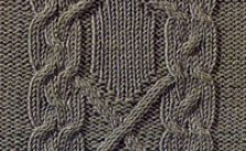 Frame Cable Panel Knitting Stitch