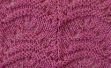 Garter Trees Knitting Stitch