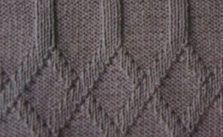 Interlinked Diamonds Knit and Purl Stitch