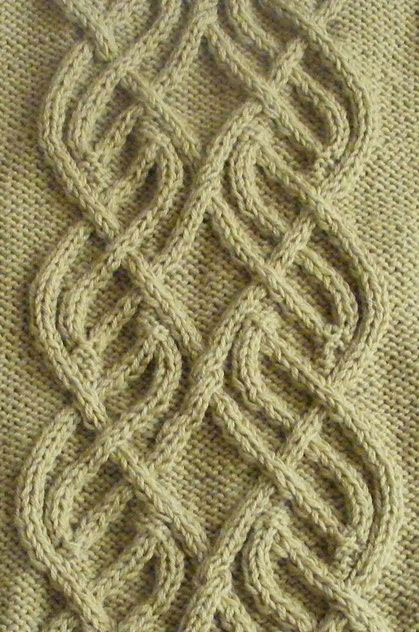 Intricate Cable Panel Knit Stitch