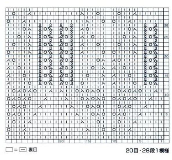 Japanese Knitting Pattern Chart Knitting Kingdom