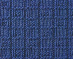 Knit and Purl Squares Knitting Stitch