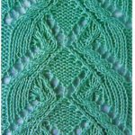 Knitted Lace Panel Stitch