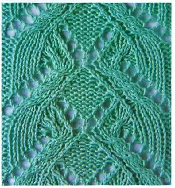 Knitted Lace Panel Stitch