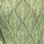 Lace Diamond with Cable Inside Knitting Stitch