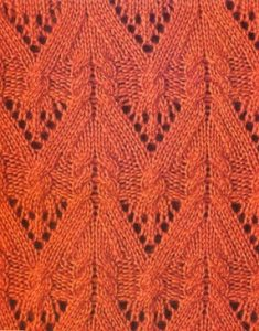 Lace V and Cable Free Knitting Stitch