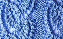 Leaf Peaks Knitting Stitch